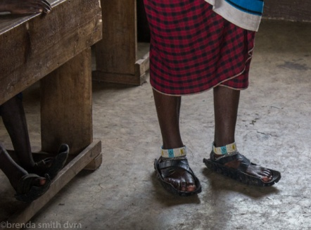 The shoes are made from old tires!