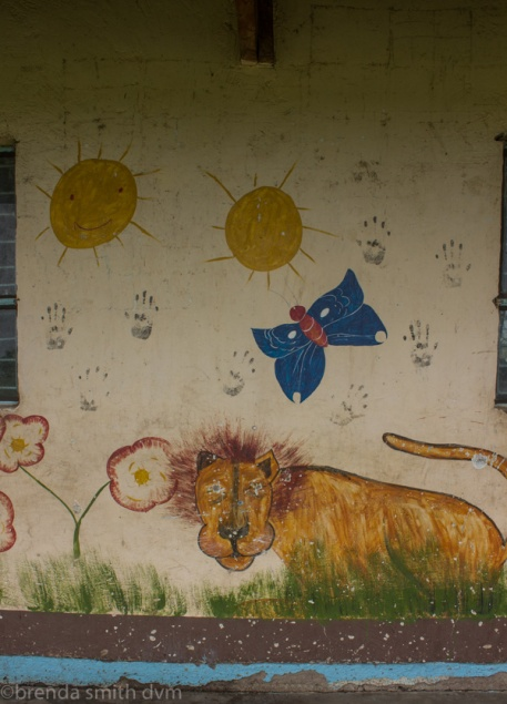 Mural on the school wall