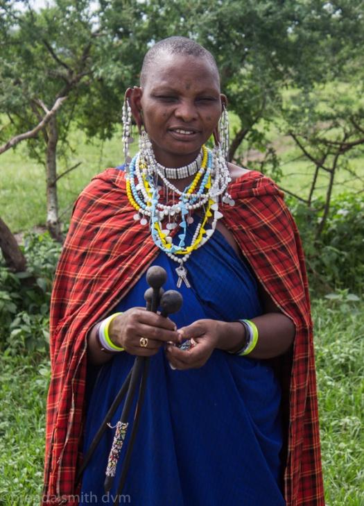 Maasai traditional clothes and jewelry