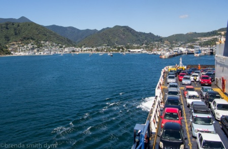 The ferry arriving in Picton